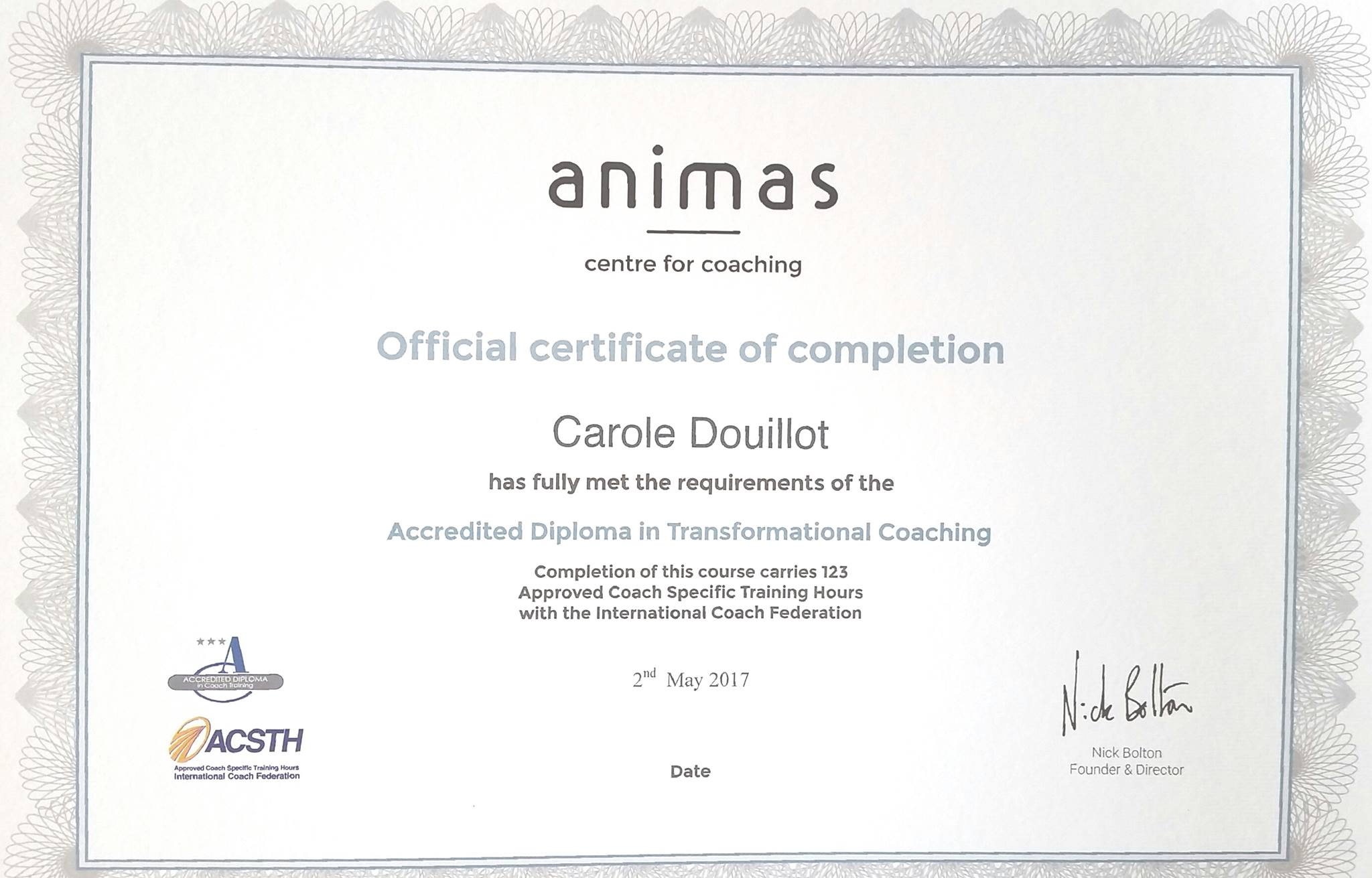 Carole Douillot- CD-coaching-transformational-coaching-cetificate