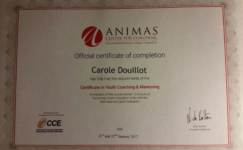 youth coaching certificate